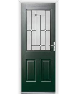 Ultimate Windsor Rockdoor in Emerald Green with White Diamonds