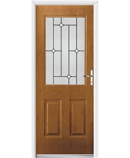 Ultimate Windsor Rockdoor in Irish Oak with White Diamonds