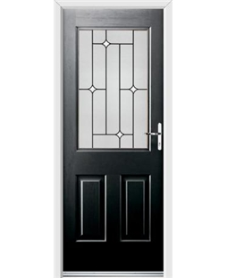 Ultimate Windsor Rockdoor in Onyx Black with White Diamonds