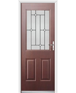Ultimate Windsor Rockdoor in Rosewood with White Diamonds