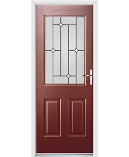 Ultimate Windsor Rockdoor in Ruby Red with White Diamonds