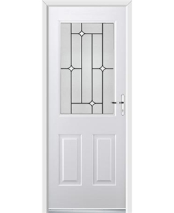 Ultimate Windsor Rockdoor in White with White Diamonds