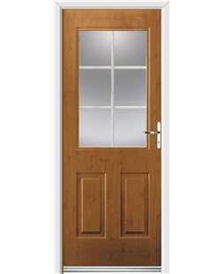 Ultimate Windsor Rockdoor in Irish Oak with White Georgian Bar