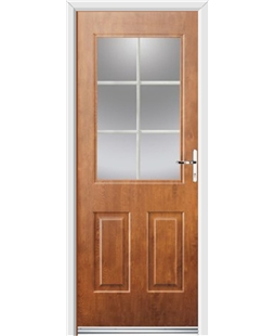Ultimate Windsor Rockdoor in Light Oak with White Georgian Bar
