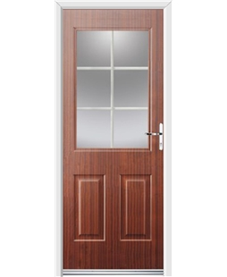 Ultimate Windsor Rockdoor in Mahogany with White Georgian Bar