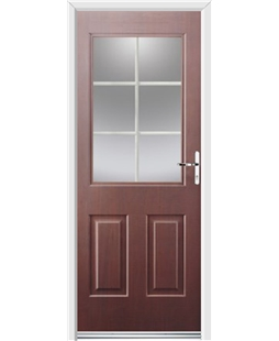 Ultimate Windsor Rockdoor in Rosewood with White Georgian Bar