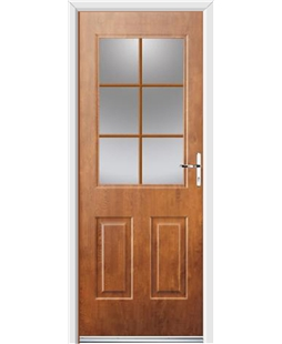 Ultimate Windsor Rockdoor in Light Oak with Woodgrain Georgian Bar