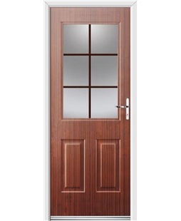 Ultimate Windsor Rockdoor in Mahogany with Woodgrain Georgian Bar