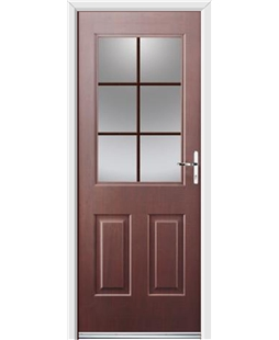 Ultimate Windsor Rockdoor in Rosewood with Woodgrain Georgian Bar