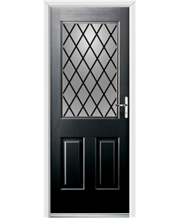 Ultimate Windsor Rockdoor in Onyx Black with Diamond Lead