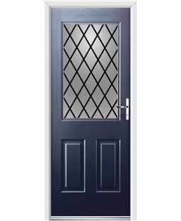Ultimate Windsor Rockdoor in Sapphire Blue with Diamond Lead