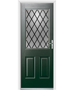 Ultimate Windsor Rockdoor in Emerald Green with Diamond Lead