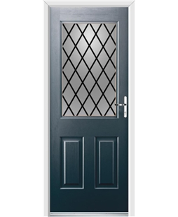 Ultimate Windsor Rockdoor in Anthracite Grey with Diamond Lead