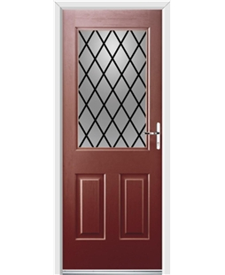 Ultimate Windsor Rockdoor in Ruby Red with Diamond Lead