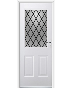 Ultimate Windsor Rockdoor in White with Diamond Lead