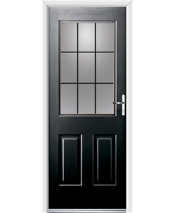 Ultimate Windsor Rockdoor in Onyx Black with Square Lead