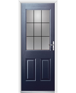 Ultimate Windsor Rockdoor in Sapphire Blue with Square Lead