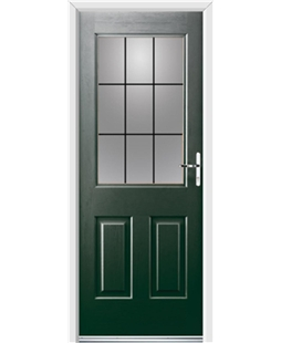 Ultimate Windsor Rockdoor in Emerald Green with Square Lead