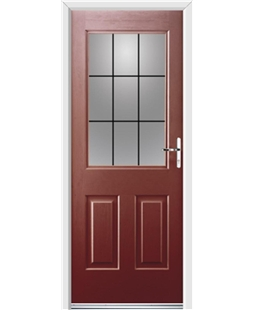 Ultimate Windsor Rockdoor in Ruby Red with Square Lead