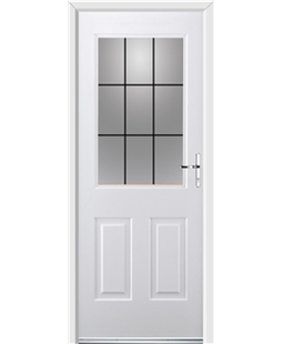 Ultimate Windsor Rockdoor in White with Square Lead