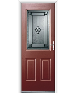Ultimate Windsor Rockdoor in Ruby Red with Titania Glazing