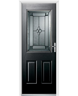 Ultimate Windsor Rockdoor in Onyx Black with Titania Glazing