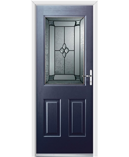 Ultimate Windsor Rockdoor in Sapphire Blue with Titania Glazing