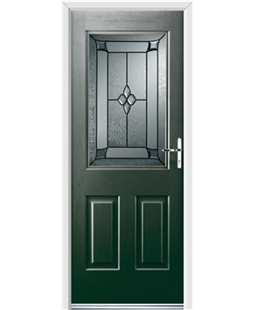 Ultimate Windsor Rockdoor in Emerald Green with Titania Glazing