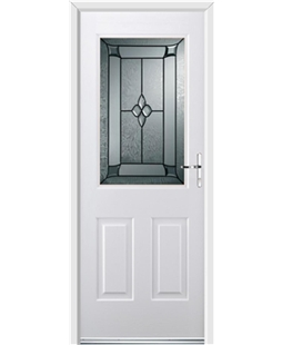 Ultimate Windsor Rockdoor in White with Titania Glazing
