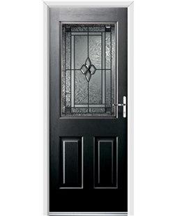 Ultimate Windsor Rockdoor in Onyx Black with Triton Glazing