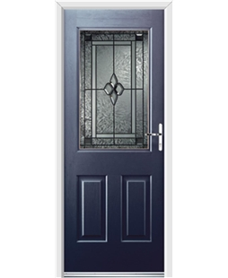Ultimate Windsor Rockdoor in Sapphire Blue with Triton Glazing