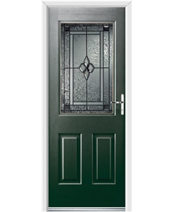 Ultimate Windsor Rockdoor in Emerald Green with Triton Glazing