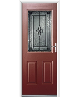 Ultimate Windsor Rockdoor in Ruby Red with Triton Glazing