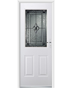 Ultimate Windsor Rockdoor in White with Triton Glazing