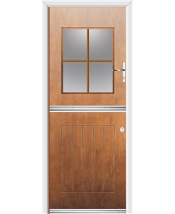 Ultimate Stable View Rockdoor in Light Oak with Woodgrain Georgian Bar