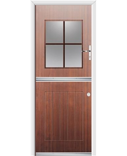 Ultimate Stable View Rockdoor in Mahogany with Woodgrain Georgian Bar