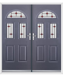 Tennessee French Rockdoor in Anthracite Grey with Red Diamonds