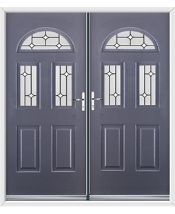 Tennessee French Rockdoor in Anthracite Grey with White Diamonds