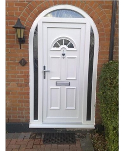 Arched upvc doors value doors uk for Upvc door frame