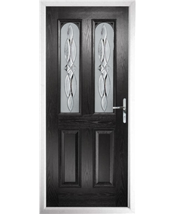 The Aberdeen Composite Door in Black with Crystal