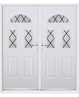 Tennessee French Rockdoor in Blue White with Diamond Lead