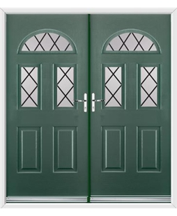 Tennessee French Rockdoor in Emerald Green with Diamond Lead
