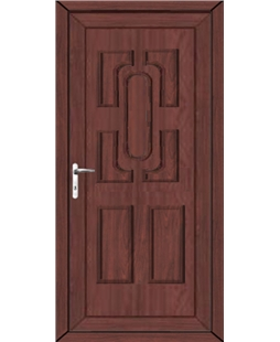 Cheltenham Solid uPVC High Security Door In Rosewood