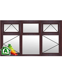 The Sheffield uPVC Double / Triple Glazing Windows in Rosewood