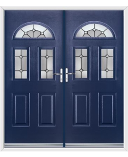 Tennessee French Rockdoor in Sapphire Blue with Ellipse