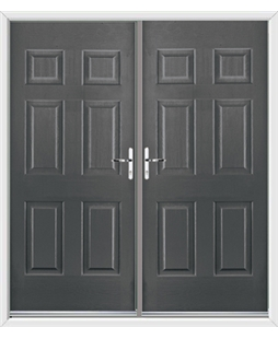 Colonial French Rockdoor in Slate Grey