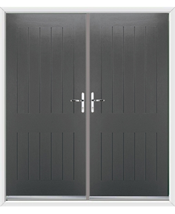 Tongue & Groove French Rockdoor in Slate Grey