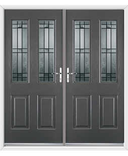 Jacobean French Rockdoor in Slate Grey with Apollo