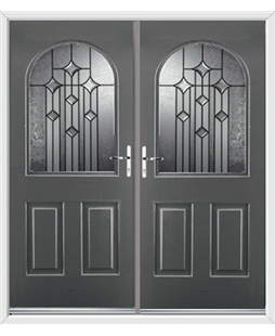 Kentucky French Rockdoor in Slate Grey with Aquarius Glazing