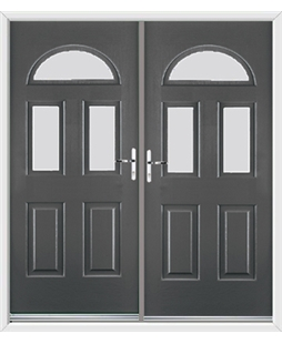 Tennessee French Rockdoor in Slate Grey with Glazing